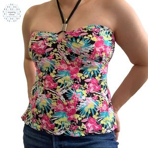 Other - Floral Tankini Swimsuit